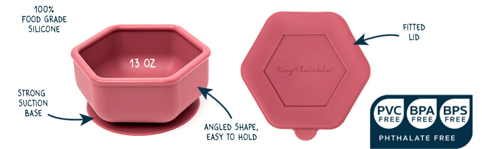 Silicone Bowl and Lid Set